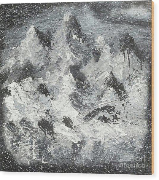 Mountain Snow Life Wood Print