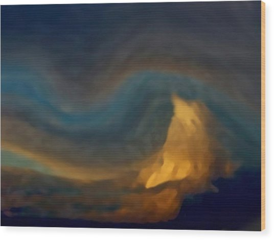 Mountain Storm Approaching Wood Print
