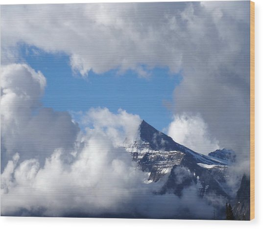 Mountain Top Experience Wood Print