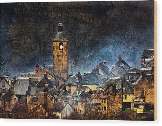 Mountain Village In France Wood Print