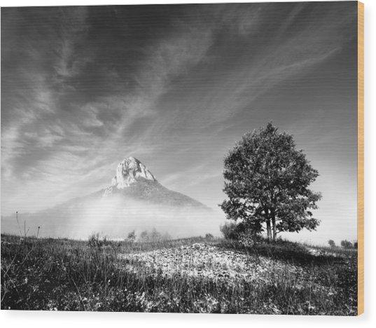Mountain Zir Wood Print