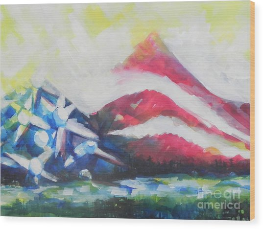 Mountains Of Freedom Two Wood Print