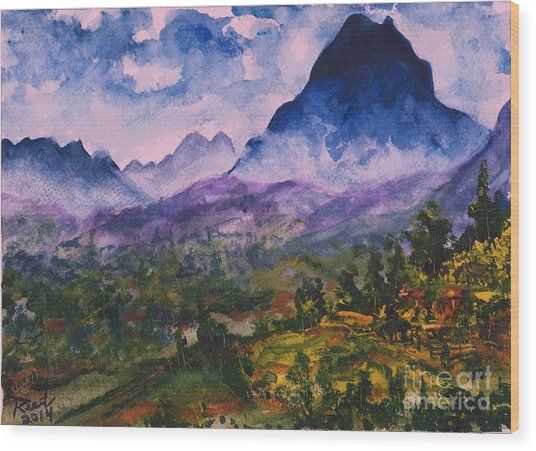 Mountains Of Pyrenees  Wood Print
