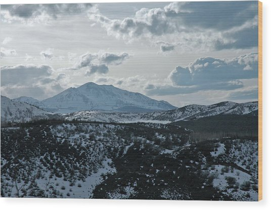 Mountains Of Wild Cat Ranch Wood Print