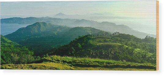 Mountaintop Panorama Wood Print
