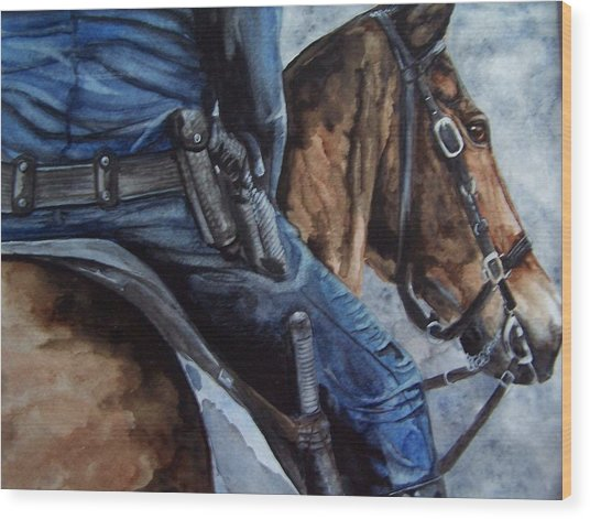 Mounted Patrol Wood Print