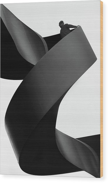 Moving Still Wood Print