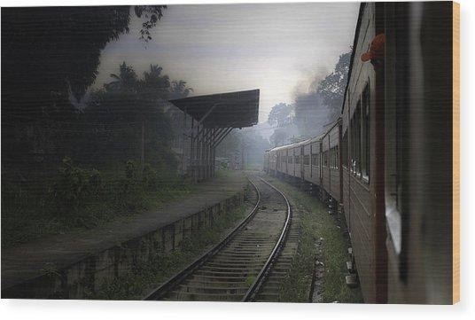Moving Train Wood Print by Sanjeewa Marasinghe