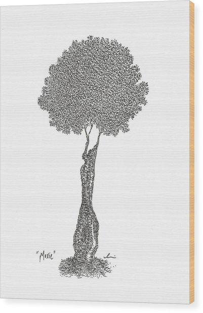 Moxie Wood Print