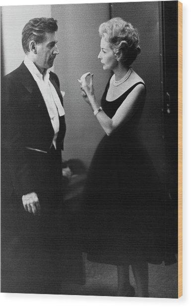 Mr. And Mrs. Leonard Bernstein Wood Print by Henry Clarke