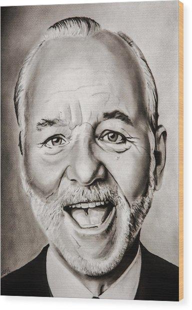 Mr Bill Murray Wood Print