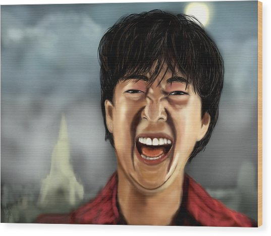 Mr. Chow Hangover Part 2 Wood Print by Mathieu Lalonde