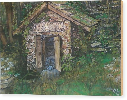 Mr. Hoene's Ghost Wood Print