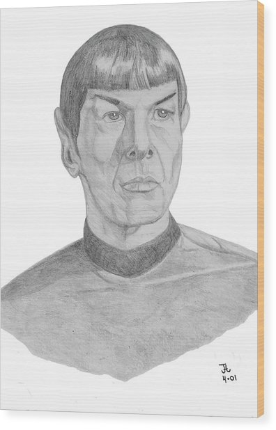 Mr. Spock Wood Print