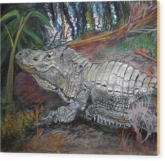 Mr.alligator Wood Print