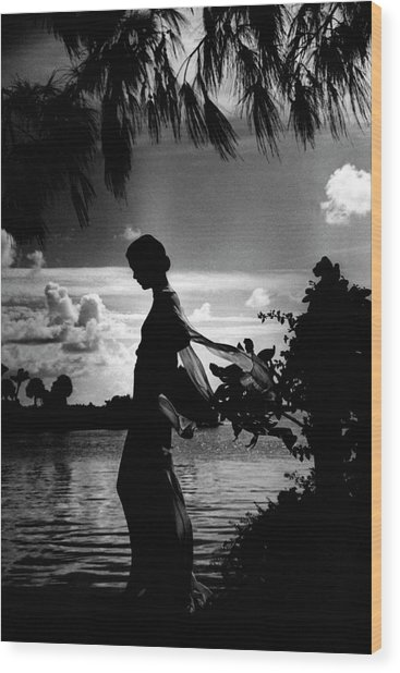 Mrs Allan A Ryan Jr At Palm Beach Wood Print