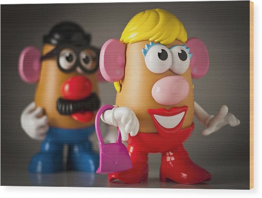 Mrs. Potato Head Wood Print