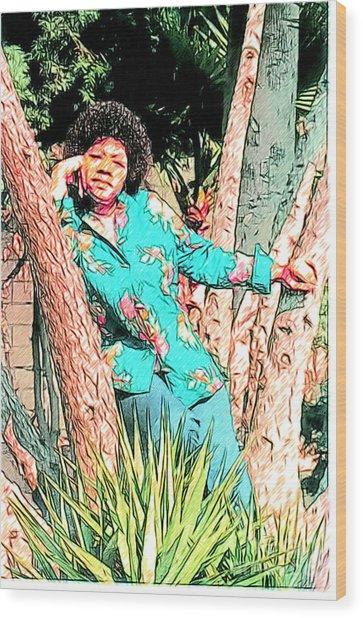 Ms. Jackie II Wood Print