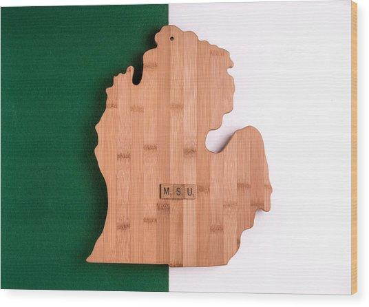 Msu Inspireme Wood Print