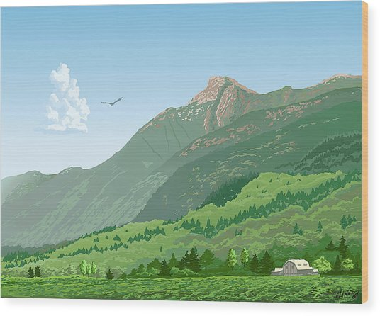 Mt Cheam In Summer Wood Print