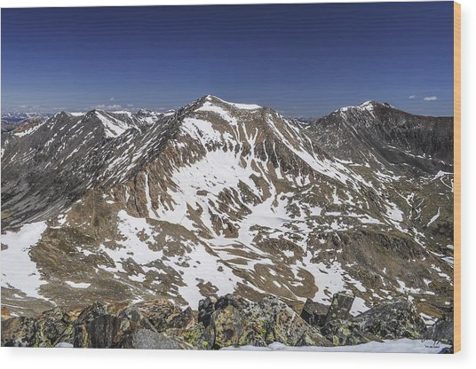 Mt. Democrat Wood Print