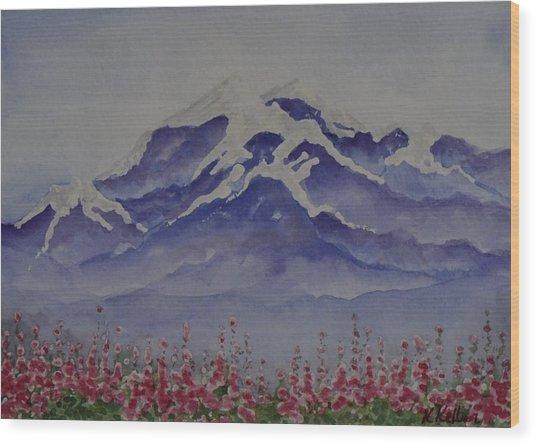 Mt. Drum Wood Print by Kathleen Keller