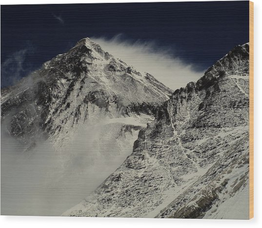 Mt Everest Wood Print