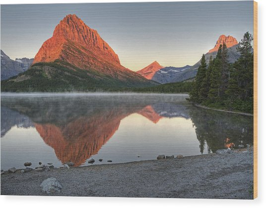 Mt. Grinnell Sunrise Wood Print