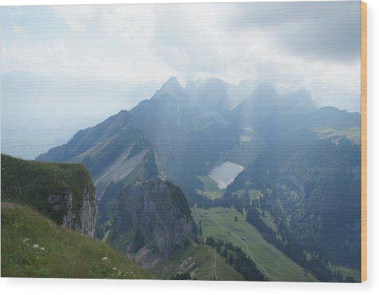 Mt. Hoher Kasten - Switzerland Wood Print by Nikki  Wang