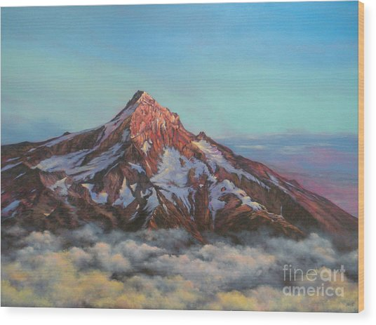 Mt Hood North Face Wood Print