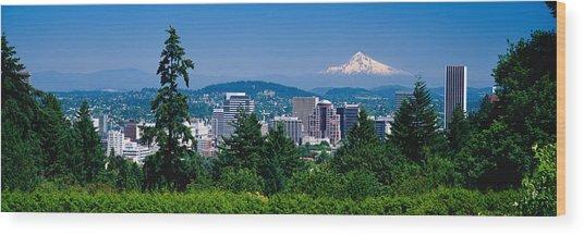 Mt Hood Portland Oregon Usa Wood Print