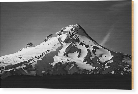 Mt. Hood Wood Print by Ron Latimer
