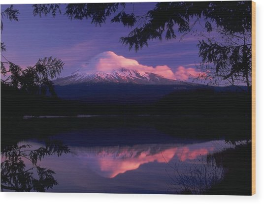Mt. Hood Sunrise Wood Print
