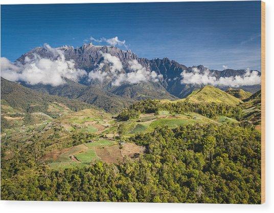Mt. Kinabalu - The Highest Mountain In Borneo Wood Print by Veronika Polaskova