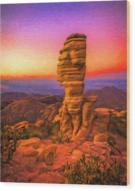Mt. Lemmon Hoodoo Artistic Wood Print