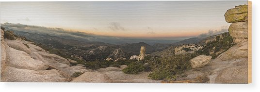Mt. Lemmon Windy Point Panorama Wood Print