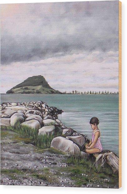 Mt Maunganui 140408 Wood Print