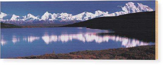 Mt. Mckinley & Wonder Lake Denali Wood Print