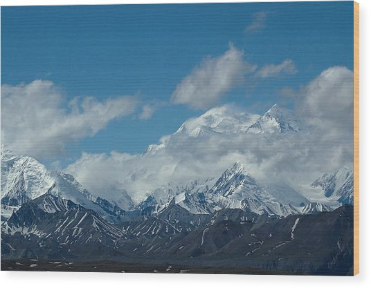Mt Mckinnley Alaska Wood Print
