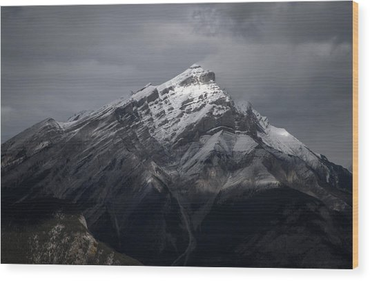 Mt. Norquay Wood Print