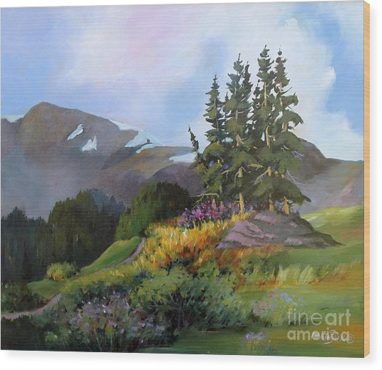 Mt. Rainier 2 Wood Print