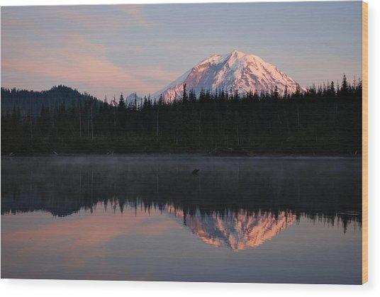 Mt. Rainier From Surprise Lake Wood Print