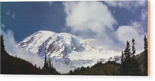 Mt Rainier II Wood Print