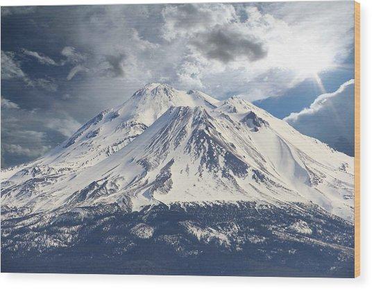 Mt Shasta Wood Print