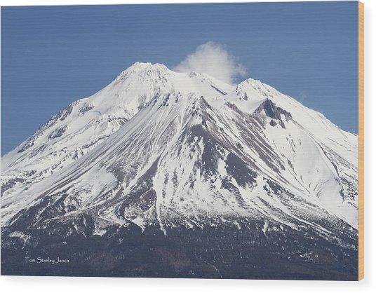 Mt Shasta California Wood Print