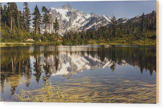 Mt Shuksan Reflection Wood Print