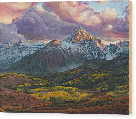 Mt. Sneffels Wood Print