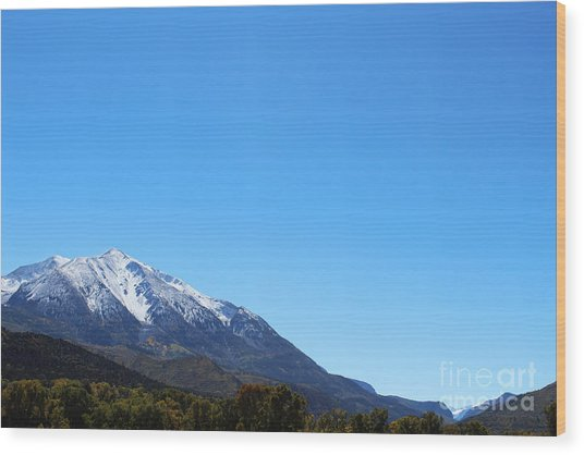 Mt. Sopris Wood Print
