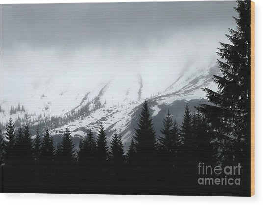 Mt St Helens........a Looming Storm Wood Print