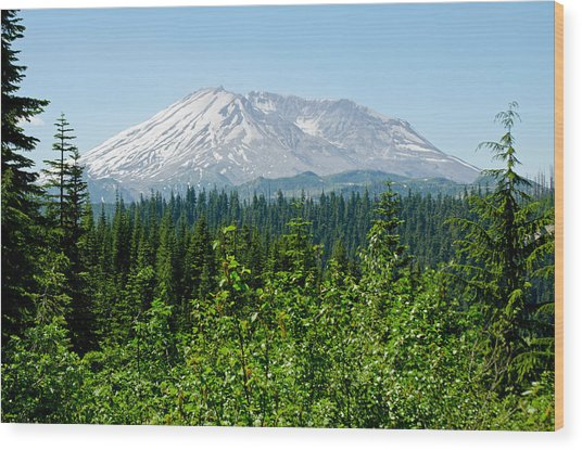 Mt. St. Helens Wood Print